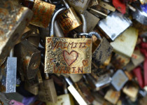 Love Locks on the Pont Des Arts Bridge Paris France