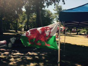 Yes, its a Welsh Flag. Mr. Locksmith Vancouver Canada Day 2015.
