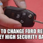 How to Change Ford Remote Battery | Mr. Locksmith