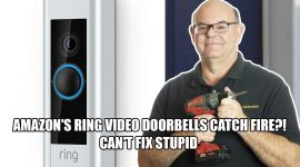 Ring video doorbell fire